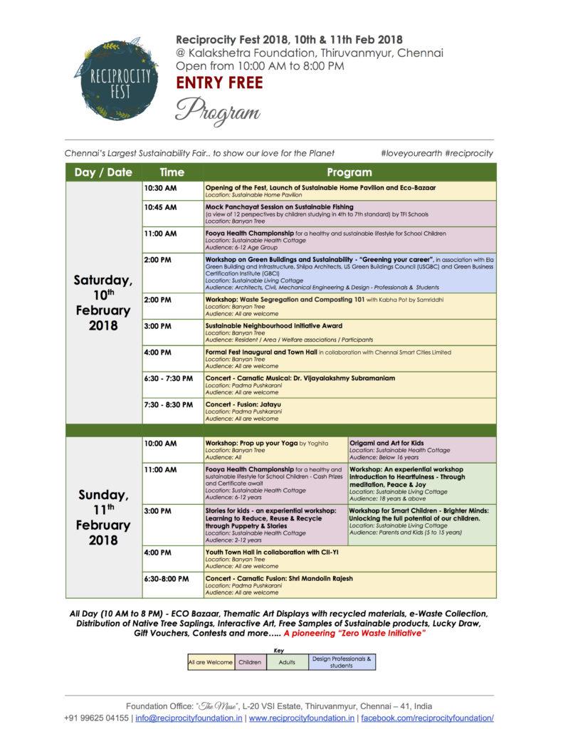 Reciprocity Fest 2018 Program